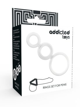 ADDICTED TOYS RINGS SET FOR PENIS TRANSPARENT