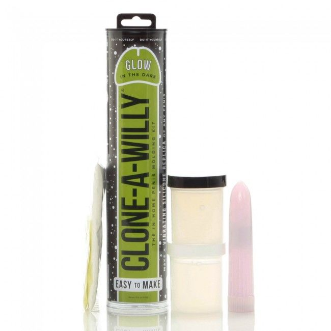 CLONA-WILLY CLONE A WILLY  CLONE GLOW IN THE DARK GREEN VIBRATING KIT
