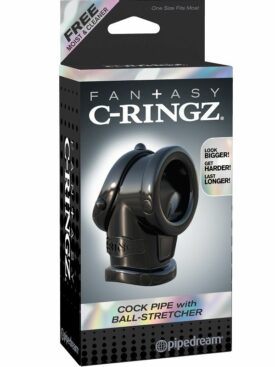 FANTASY C-RINGZ  COCK PIPE WITH BALL STRECH