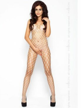 PASSION EROTIC LINE CATSUIT BLANCO BS001