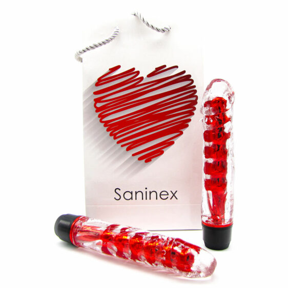 SANINEX VIBRATOR FANTASTIC REALITY RED AND CLEAR