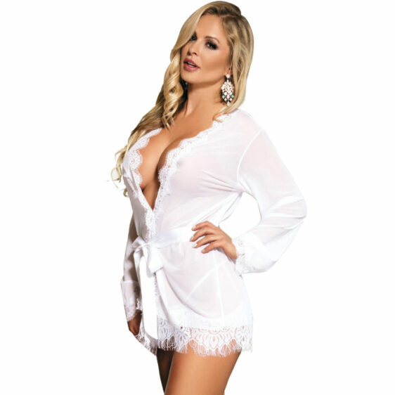 SUBBLIME WHITE LONG SLEEVED AND FRINGED BABYDOLL S/M