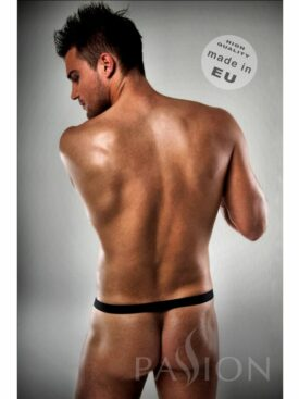 THONG WHITE METAL BY PASSION MEN LINGERIE KOMPLET S/M