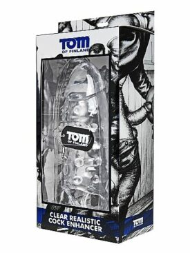 TOM OF FINLAND CLEAR REALISTIC COCK ENHANCER