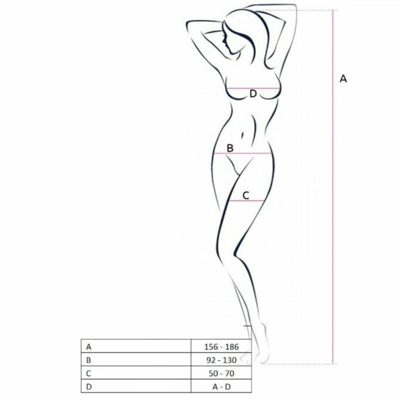 PASSION WOMAN BS046 BODYSTOCKING - WHITE ONE SIZE