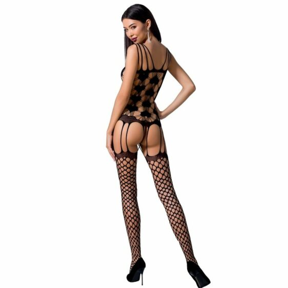 PASSION WOMAN BS067 BODYSTOCKING - BLACK ONE SIZE