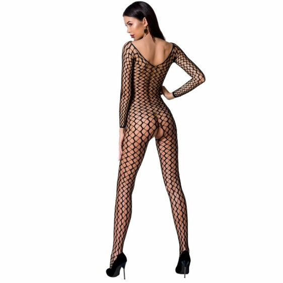 PASSION WOMAN BS068 BODYSTOCKING - BLACK ONE SIZE