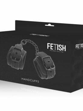 FETISH SUBMISSIVE HANDCUFFS VEGAN LEATHER