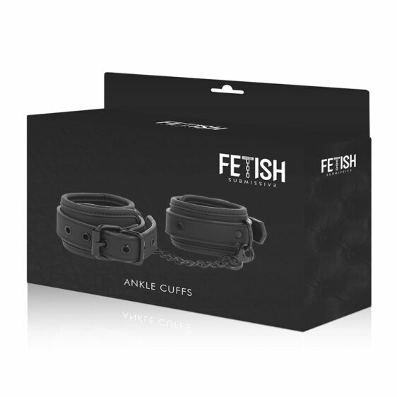 FETISH SUBMISSIVE ANKLE CUFFS VEGAN LEATHER
