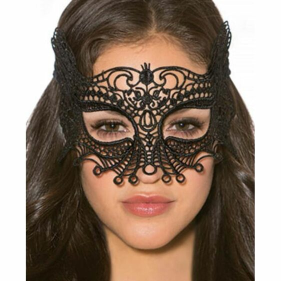 QUEEN LINGERIE BLACK MASK ONE SIZE