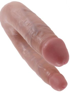 KING COCK U-SHAPED SMALL DOUBLE TROUBLE FLESH
