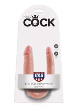 KING COCK DILDO DOBLE PENETRACIÓN 12.7CM NATURAL