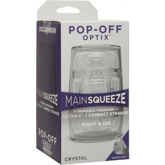 DOC JOHNSON MAIN SQUEEZE POP-OFF OPTIX - PUSSY AND ASS