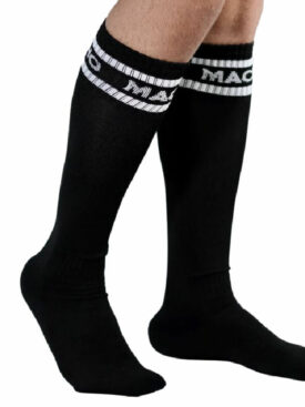 MACHO MALE LONG SOCKS ONE SIZE - BLACK