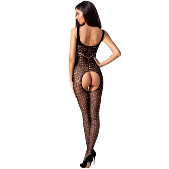 PASSION WOMAN BS078 BODYSTOCKING - BLACK ONE SIZE