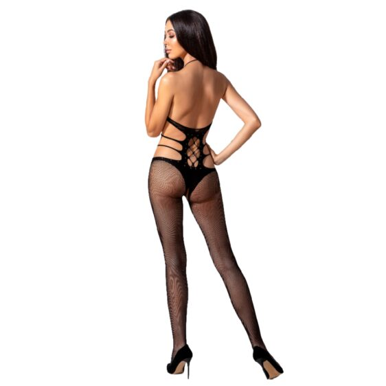 PASSION WOMAN BS084 BODYSTOCKING - BLACK ONE SIZE