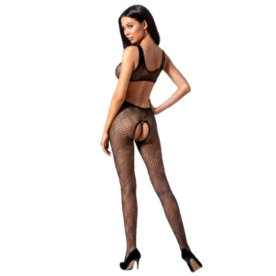 PASSION WOMAN BS085 BODYSTOCKING - BLACK ONE SIZE