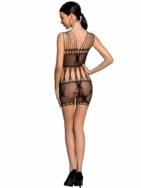 PASSION WOMAN BS090 BODYSTOCKING - BLACK ONE SIZE