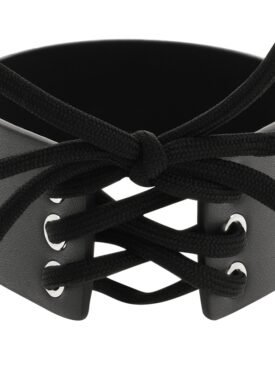 COQUETTE HAND CRAFTED CHOKER VEGAN LEATHER