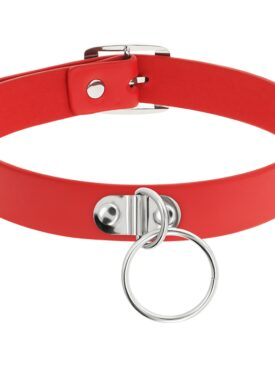 COQUETTE HAND CRAFTED CHOKER FETISH - RED
