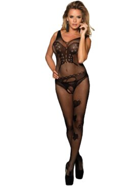 QUEEN LINGERIE BUTTERLFY PATTERNS BODYSTOCKING S-L