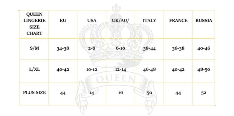 QUEEN SIZE CHART OTHERS 6